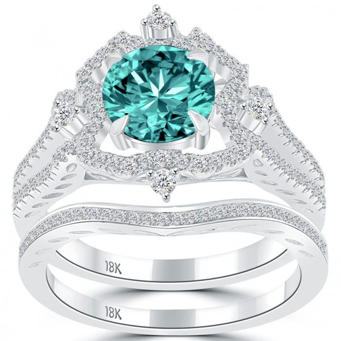 Blue Diamond Engagement Ring  Diamonds Jewelry Store in New York