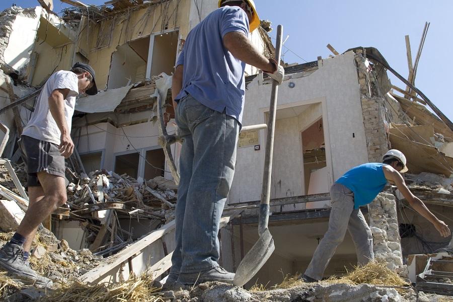 Ouvriers Chantier de démolition