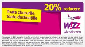 Reducere la zboruri de la WizzAir: -20%