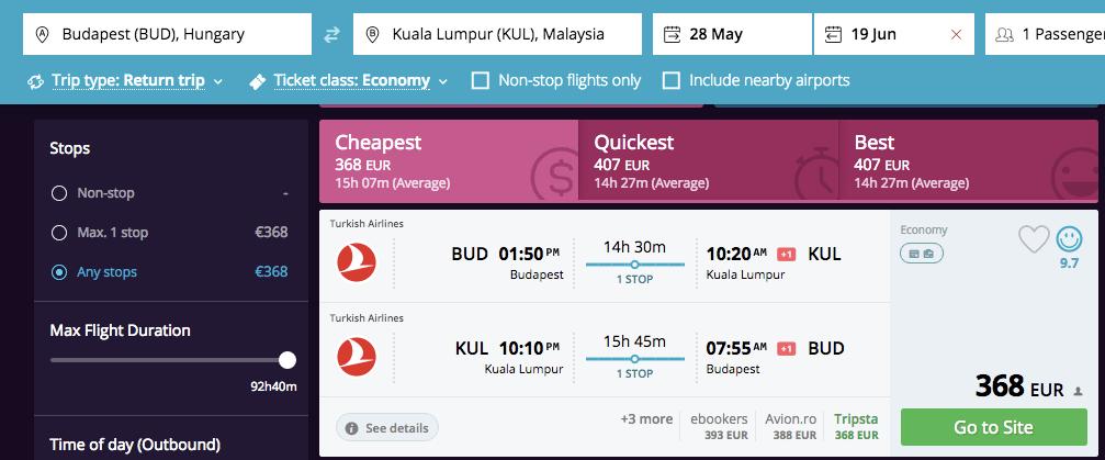 ofertă Kuala Lumpur
