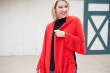 Red Wrap Sweater - Lipgloss And Crayons