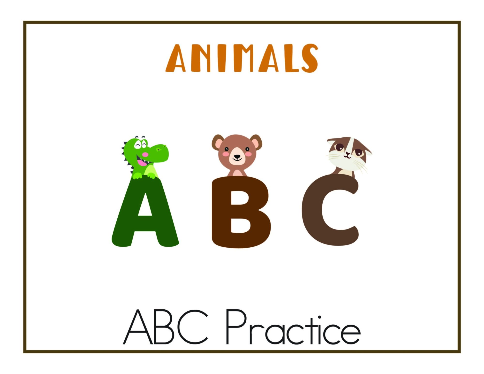 hight resolution of ABC Worksheets: Free Printables - Lipgloss and Crayons