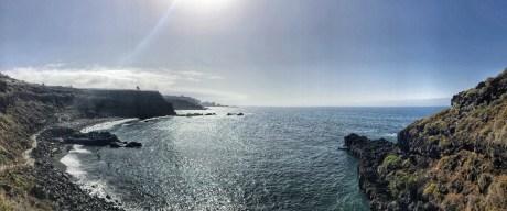 Playa el Bollullo, vulkáni homokkal.