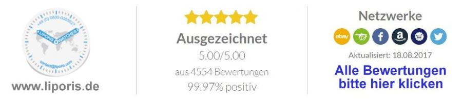 LIPORIS Uhren Qualität Logo ausgezeichnete Bewertungen und Netzwerke
