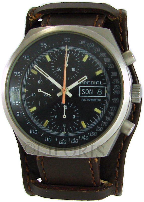 Predial mechanischer Automatik Chronograph Valjoux 7750 Military Bund Uhrband