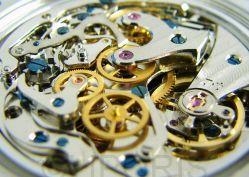 Riedenschild Schaltrad Chronograph Herrenuhr Handaufzug Lederband blaue Zeiger