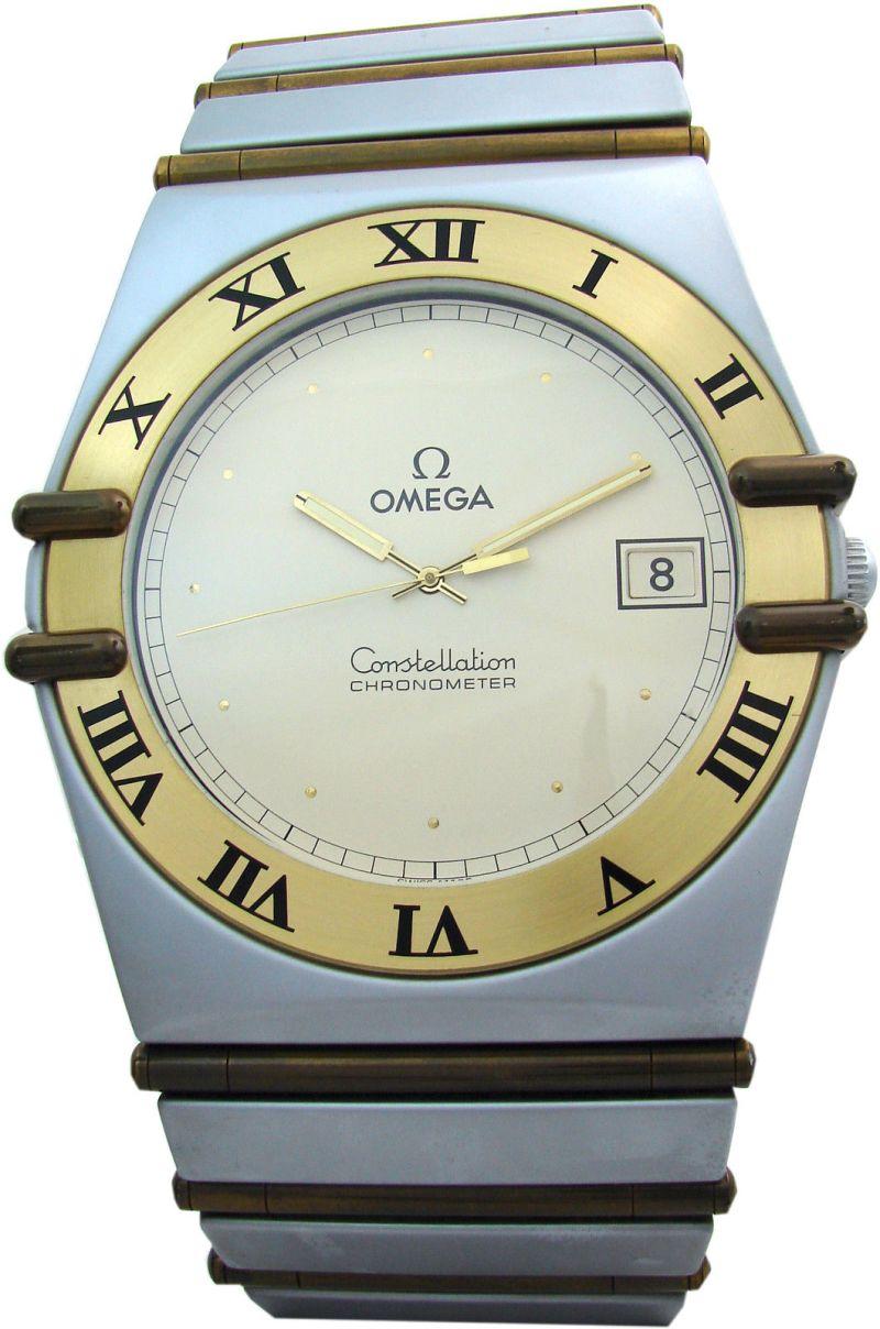 Konzessionärsuhr omega design constellation classic showroom watch Ausstellung