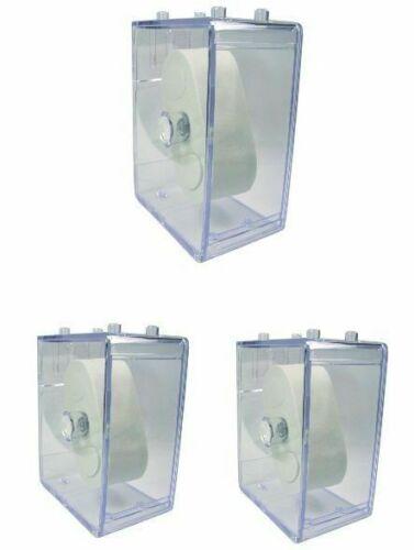 3 Stück HEKTOR Uhren Sammelbox Kunststoff klar stapelbar Stapel Box ohne Uhr