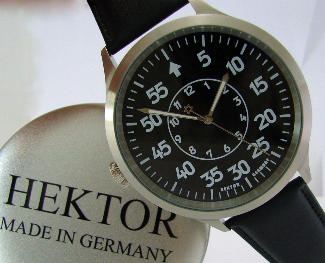 HEKTOR B XXXL Stil Fliegeruhr Beobachtungsuhr B Uhr design Quarz Herrenuhr Ø65mm