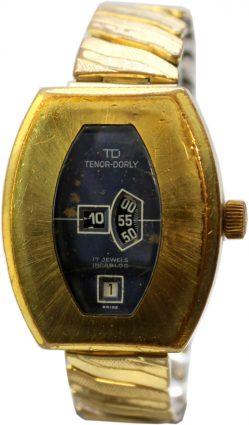 TD Tenor-Dorly retro Herrenuhr mit Datum Swiss Made Scheiben Uhr mechanisch
