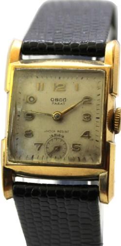 Osco Parat 15 Rubis vergoldet kleine mechanische vintage Uhr Handaufzug mit kleine Sekunde