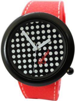 Ragazzi modische Damen Uhr Quarz mit Punkten schwarz weiß 48,60mm Damenuhr 72-71400