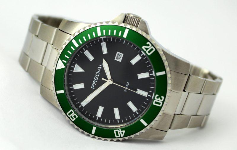 Herren Sport Stahl Armbanduhr von Predial