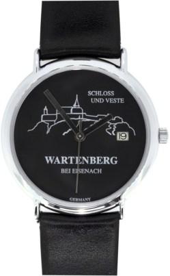 Wartenberg Schloß und Veste Germany Quarz Damen Uhr schwarz mit Datum 34mm