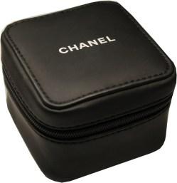CHANEL Uhrbox Kunststoff soft case schwarz Reise und Service Etui