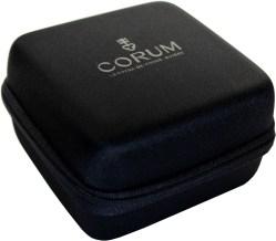 CORUM Uhrbox Kunststoff soft case schwarz Reise und Service Etui