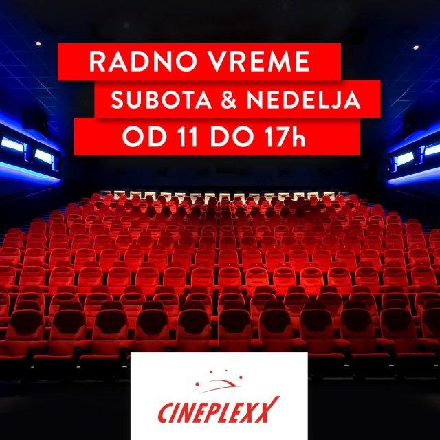 CINEPLEXX BIOSKOPI OVOG VIKENDA RADE OD 11 DO 17H