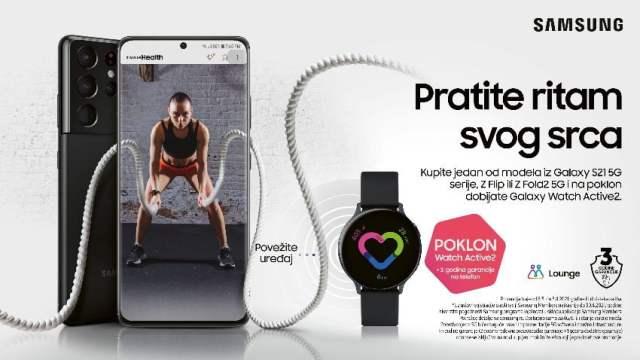 Prati ritam svog srca: Samsung Galaxy Watch Active2 44mm na poklon uz kupovinu odabranih uređaja