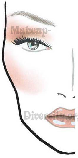 Sable [MAC Imitation] L&R Face Chart #D-S-100