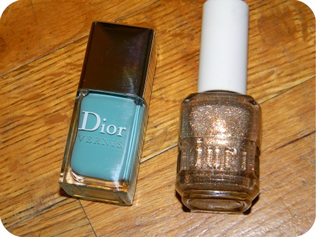 Dior Vernis St tropez and Duri nail polish in all that glitters