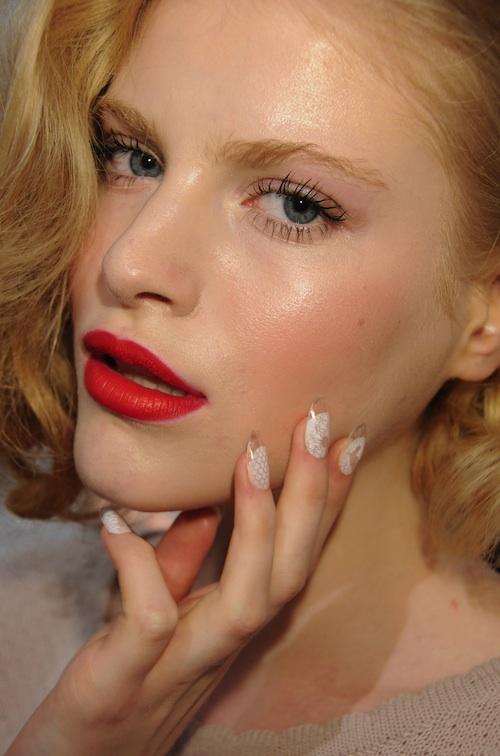 Candice Manacchio for CND lucite lace nails at joy cioci