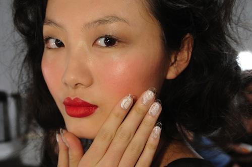 CND Lucite Lace Nails at Joy Cioci SS12