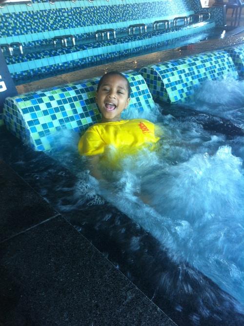 Jacob at Spa Castle
