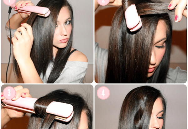 Style or curl your hair with a straightener