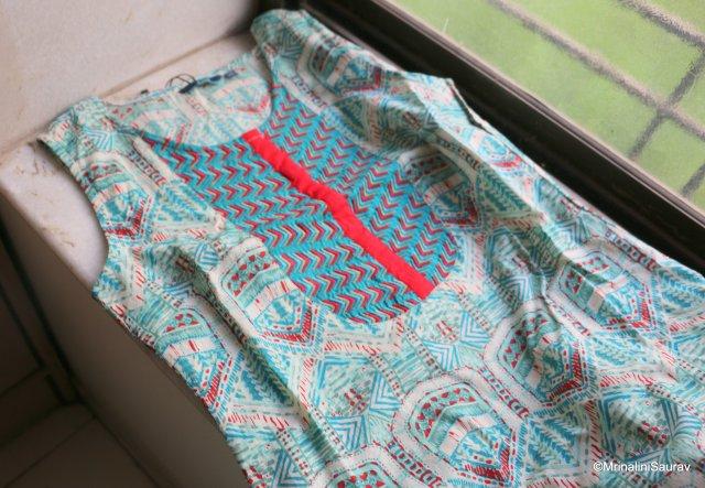 Printed and Embroidered Summery Kurti Ajio
