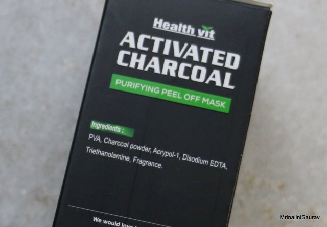 Healthvit Activated Charcoal Purifying Peel Off Mask | Review