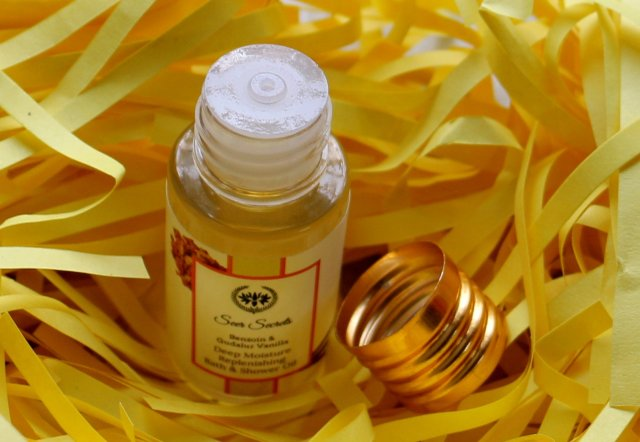 Seer Secrets Benzoin and Gudalur Vanilla  Bath & Shower Oil |Review