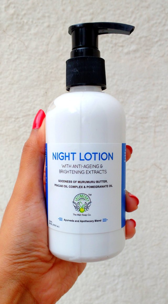 Greenberry Organics Night Lotion with Anti-ageing & Brightening Extracts | Review