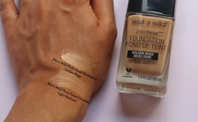 Wet n Wild Photo Focus Foundation - Golden Beige | Review and Swatches