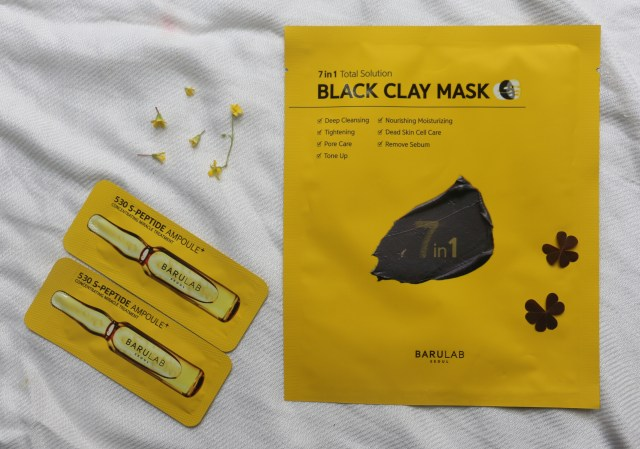 Barulab 7 in 1 Total Solution Black Clay Mask | Blue Aqua Mask |530 S-Peptide Ampoule | Review