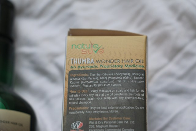 Nature Sure Thumba Wonder Hair Oil | Review