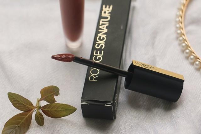 Loreal Paris Rouge Signature Matte Liquid Lipstick | I Explore | Review and Swatches