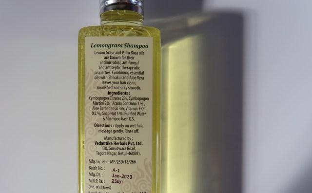 Vedantika Herbals Lemongrass Shampoo