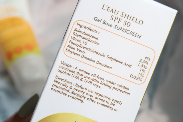 L'eau Shield SPF 50 Sunscreen Gel by Peau Care | Review