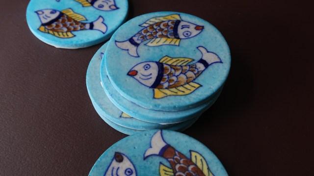 iTokri Blue Pottery Coasters