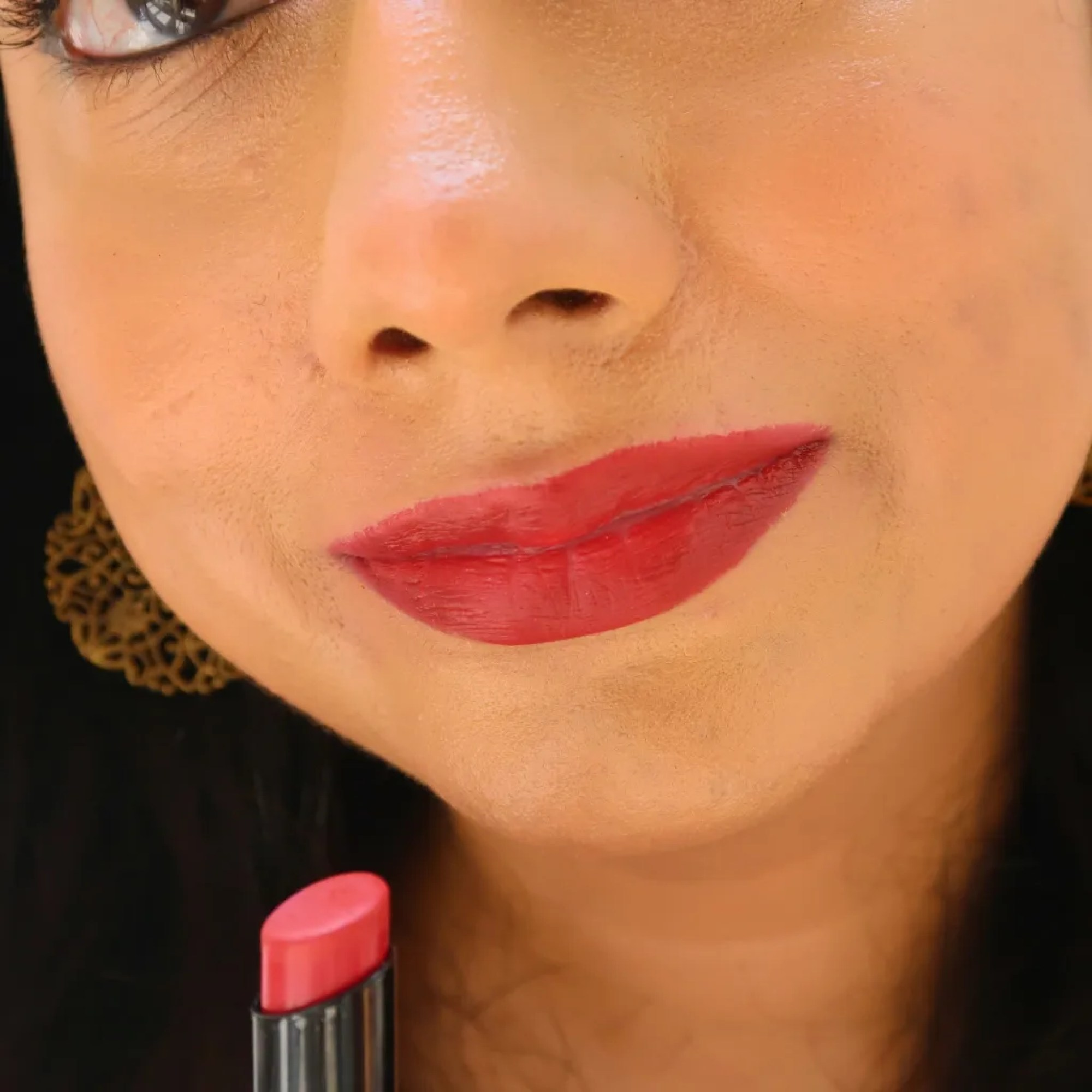 Spekta True Matte Lipstick - Saucy on NC35 skin tone