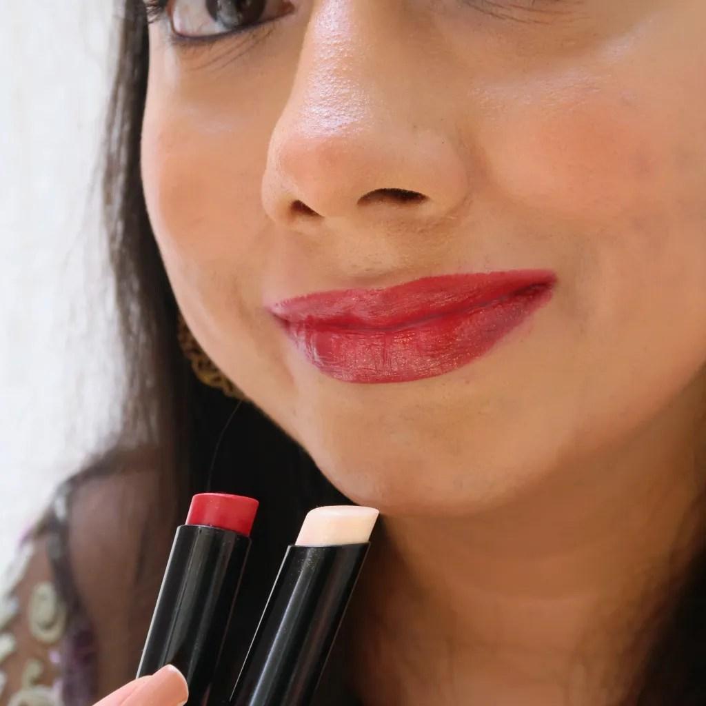 Spekta Cosmetics Lipsticks - MVP + Saucy- On NC35 skin tone