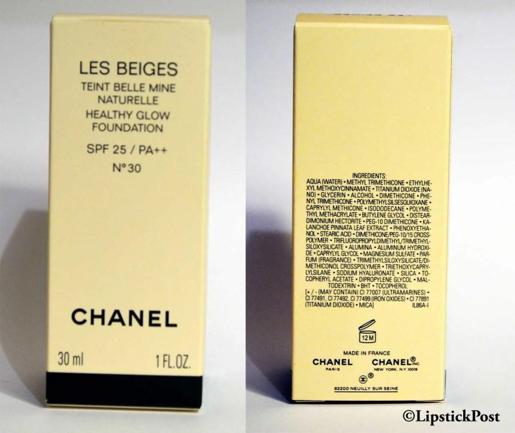 INCI Les Beiges di Chanel