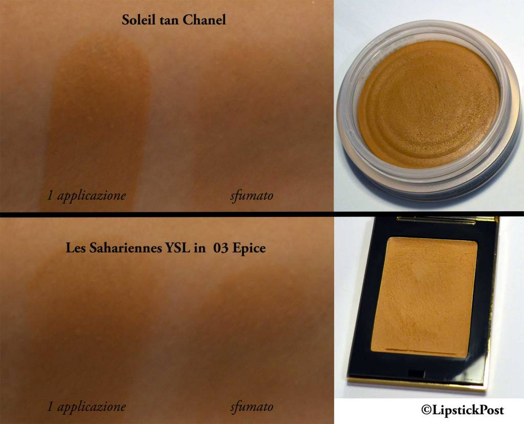 Soleil Tan Chanel vs Les Sahariennes YSL