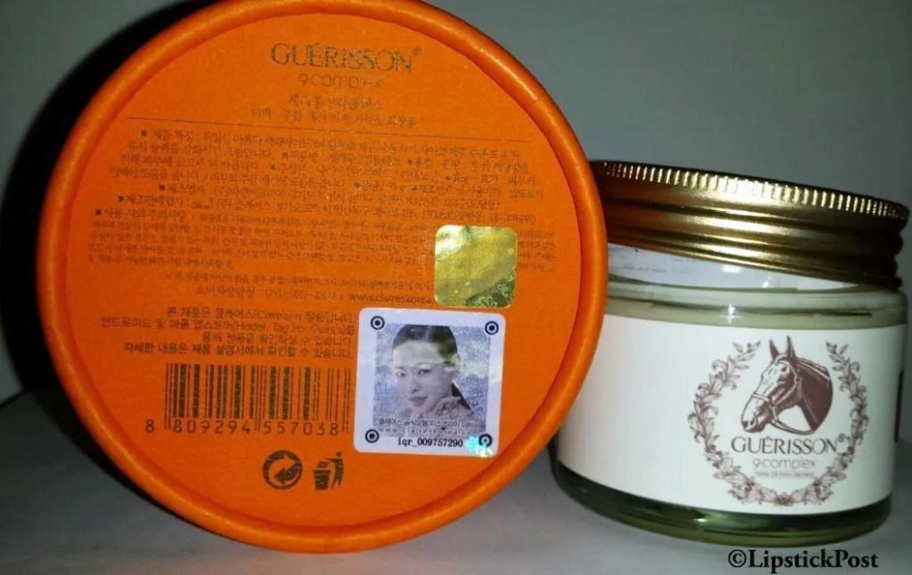 Ingredients Guerisson 9 Complex