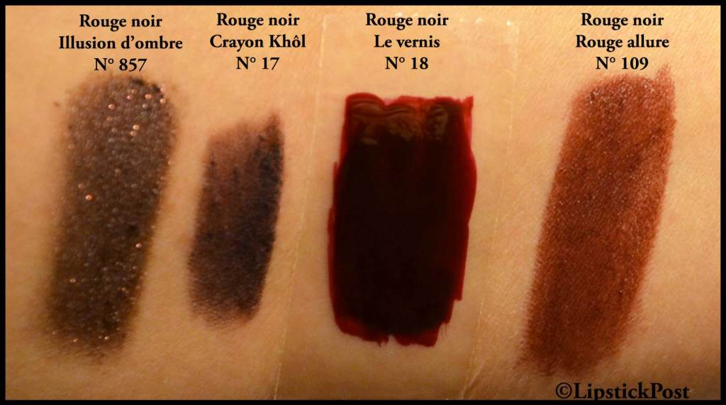 Swatches Rouge Noir
