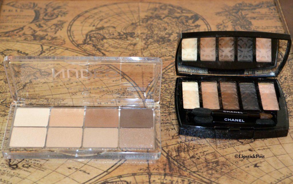 Palette Chanel Entrelacs e Essence All about… Nude