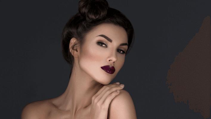Mac Cyber Lipstick on Dark Skin Tone