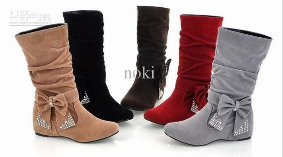 winter-boots-women-snow-boots-flat-heel-bow