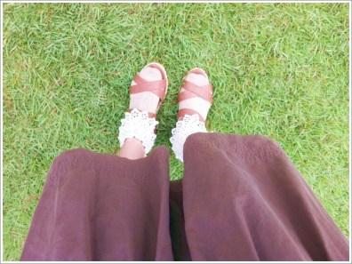 サンダル、靴下