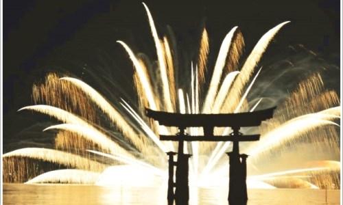 宮島、花火